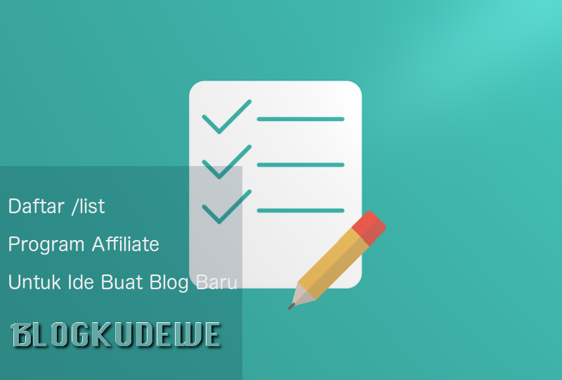 Daftar /list Affiliate Program